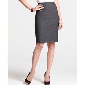 Brooks Brothers Grey Wool Pencil Skirt